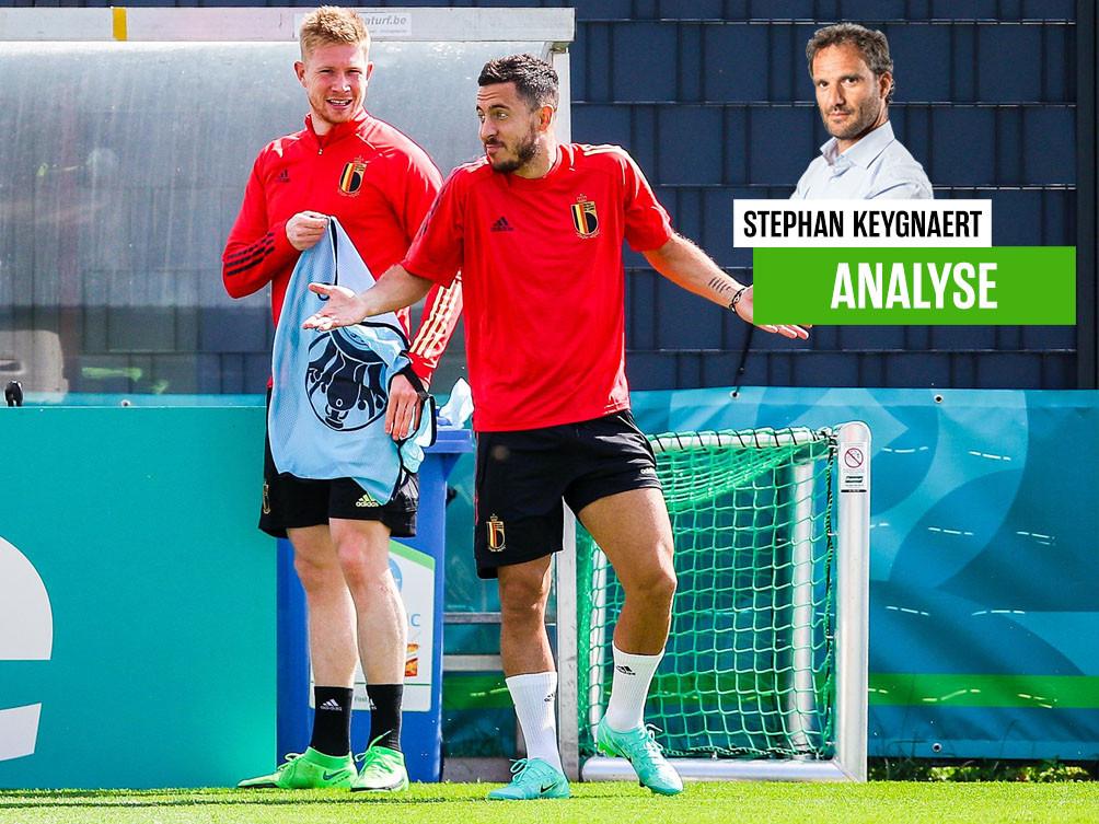Dolle pret op training gisteren, met De Bruyne en Eden Hazard.