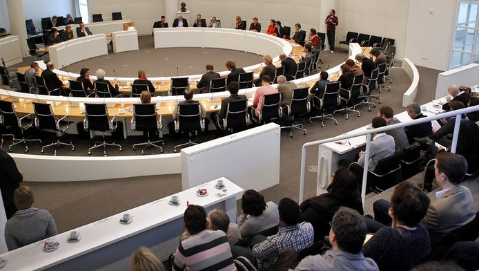 Vergadering van de gemeenteraad in het Haagse stadhuis. © ANP