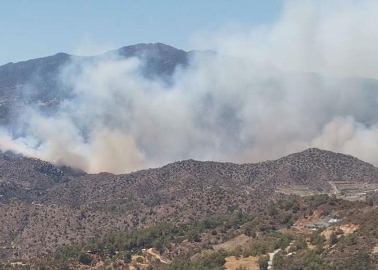Enorme brand op Cyprus Beeld In-Cyprus