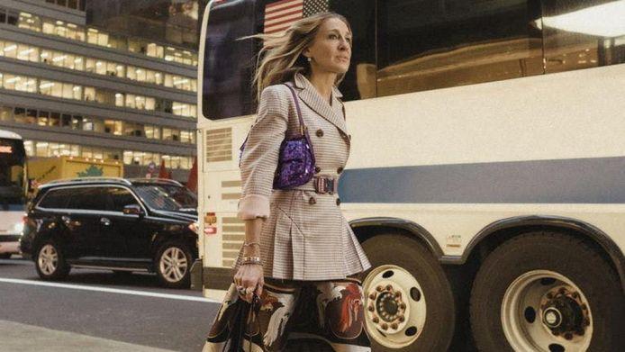 Sarrah Jessica Parker in een campagne voor Fendi's Baguette Bag in 2019.