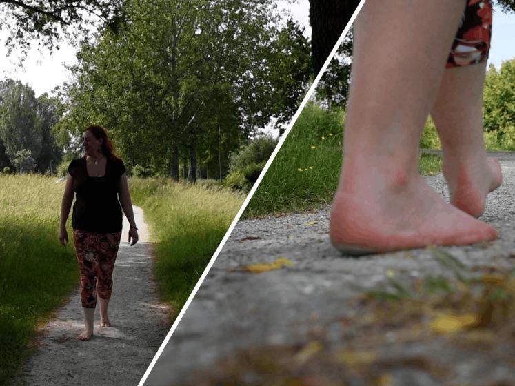 Kayleigh gaat het liefst wandelen zonder schoenen