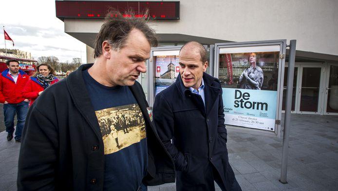 PvdA-fractievoorzitter Diederik Samson en partijleider Hans Spekman.