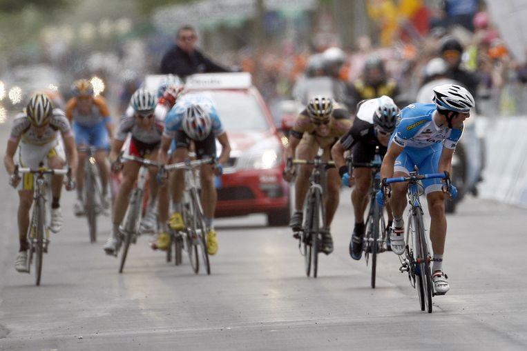 Beletti wint de dertiende etappe van de Giro. (AP) Beeld