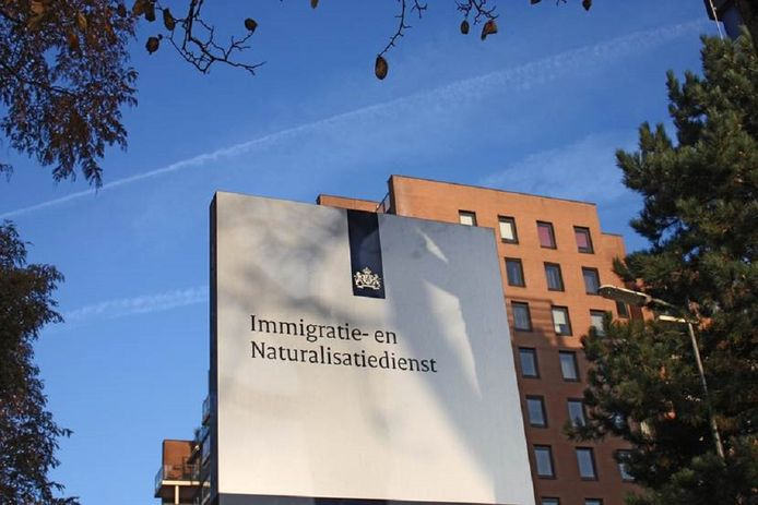 Het gebouw van de Immigratie- en Naturalisatiedienst (IND) in Rijswijk. Foto ter illustratie.