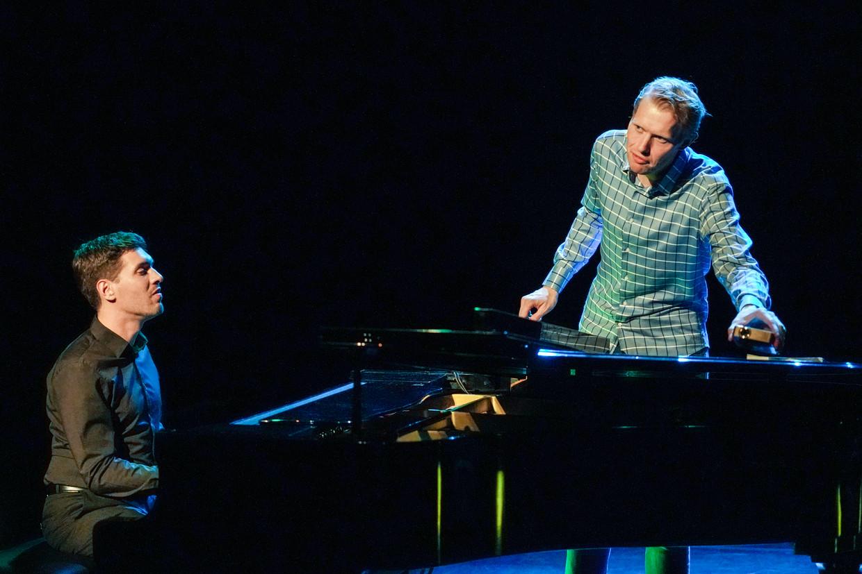 Pianist Tom Dicke en zanger Jan Beuving Beeld Jaap Reedijk