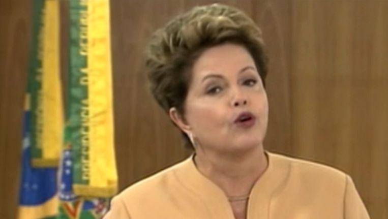 De Braziliaanse president Dilma Roussef. Beeld AFP