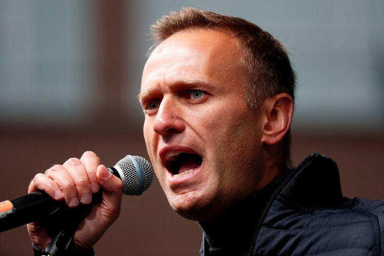 Kremlin-criticus Aleksej Navalny tijdens een speech in 2019. Beeld REUTERS