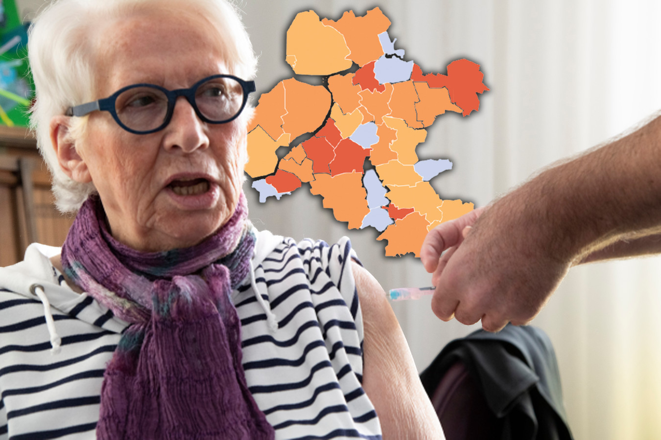 De coronakaart van Oost-Nederland op zondag 28 februari