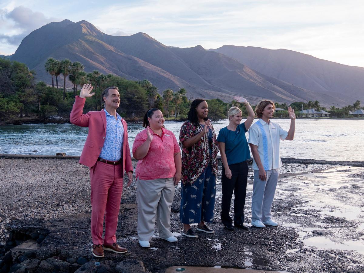 Murray Bartlett, Jolene Purdy, Natasha Rothwell, Lukas Gage serie The White Lotus