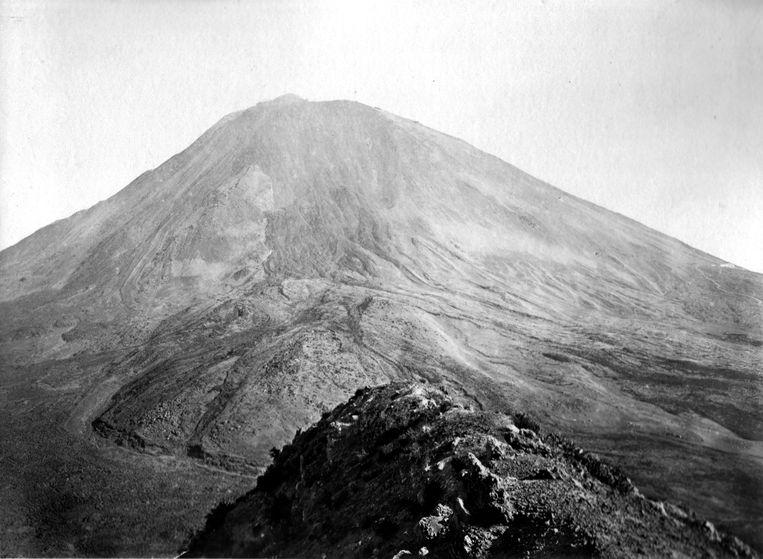 De Vesuvius, gezien vanaf Monte Somma, eind 19de eeuw. Beeld Getty
