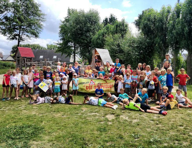 Een archiefbeeld van de speelpleinwerking vorig jaar. In de zomer 2020 werkt Izegem met acht locaties om veilige bubbels van 45 kinderen te hebben.