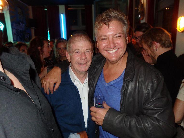 Journalist Frits Barend en zanger René Froger Beeld Schuim