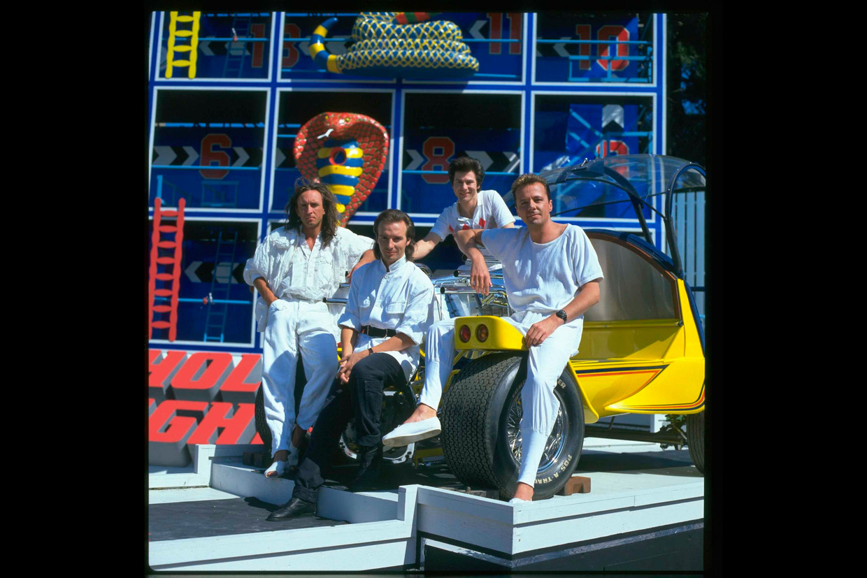 Vlnr: Chris Cross, Midge Ure, Warren Cann en Billy Currie van Ultravox Beeld TV Times/Future Publishing via G