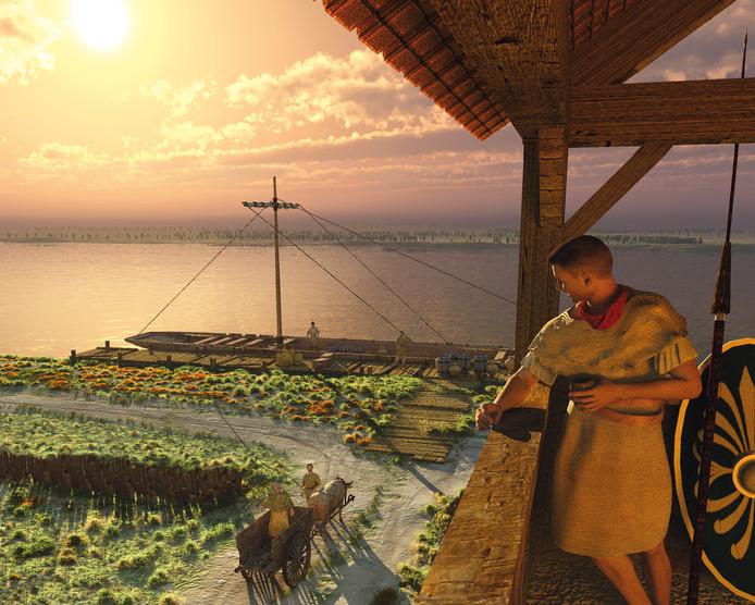 Mogelijk heeft bij Herwen een Romeins Castellum gelegen, oftewel een legerplaats.