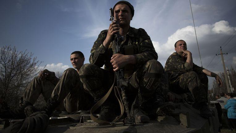 Militairen van het Oekraïense leger. Beeld AP