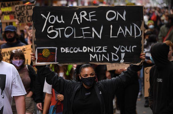 Ook in Melbourne kwamen honderden betogers de straat op.