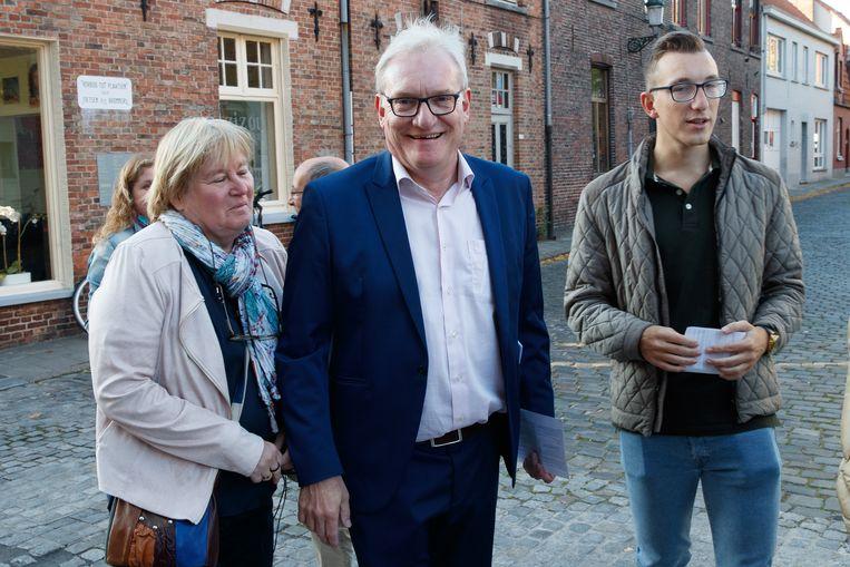 Van Den Driessche bij de verkiezingen van 14 oktober. Beeld BELGA