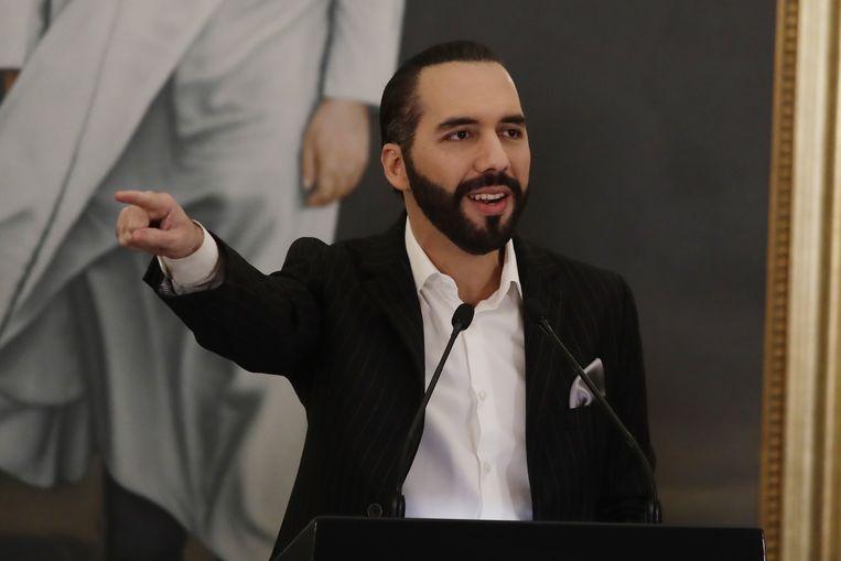 Nayib Bukele Ortez, president van El Salvador. Beeld EPA