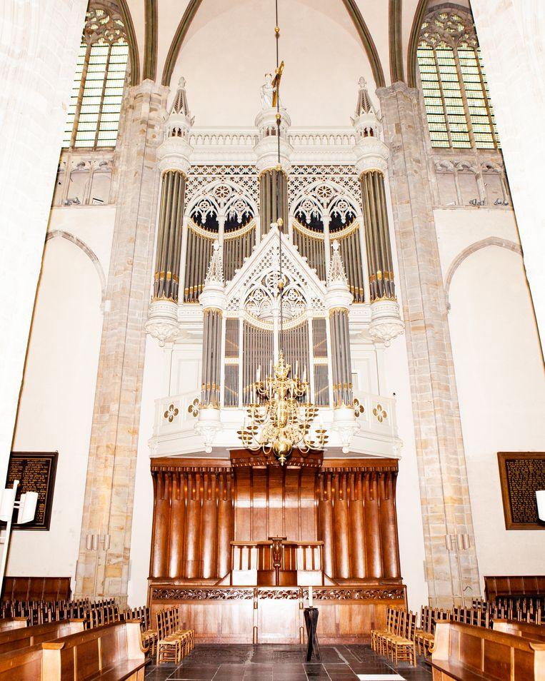 Het Bätz-orgel in de Domkerk in Utrecht.  Beeld Hilde Harshagen