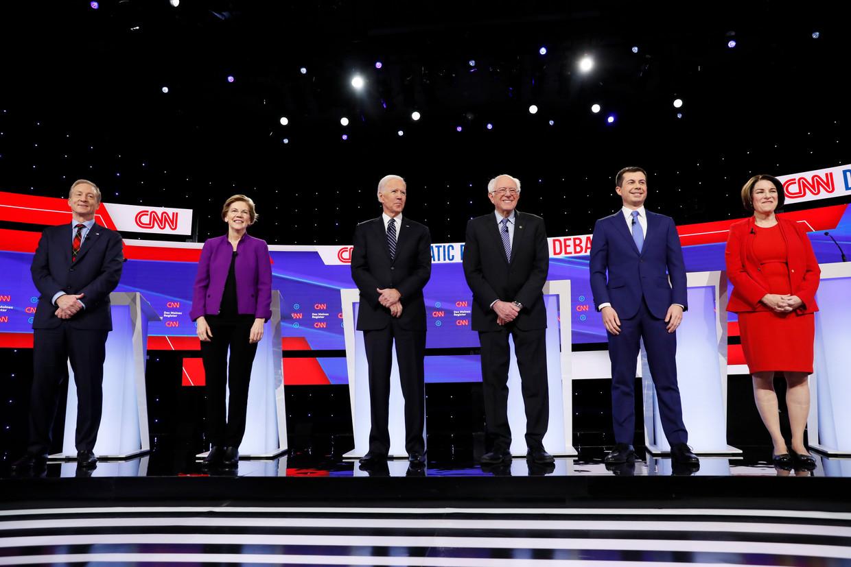 De Democratische presidentskandidaten. Beeld AP