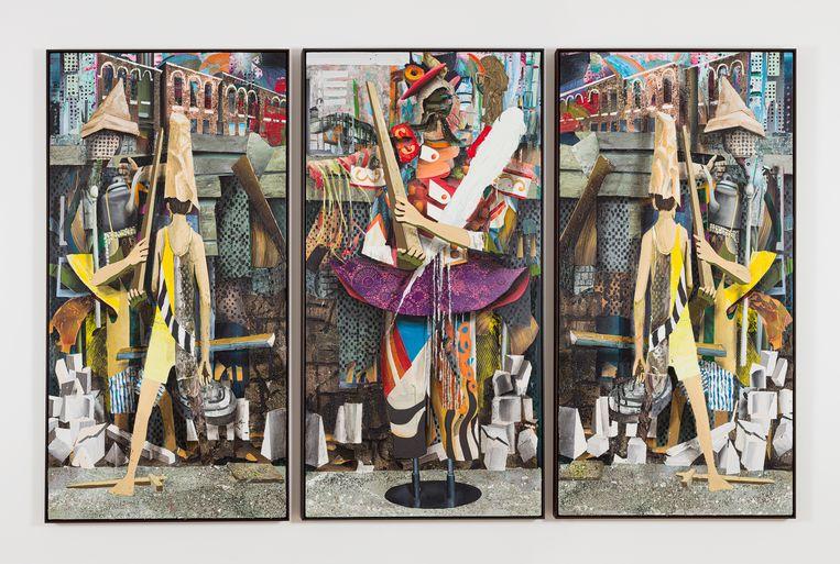 Symbiosis IX, (2021) van Tjebbe Beekman, te zien in galerie Grimm. Beeld Galerie: Grimm