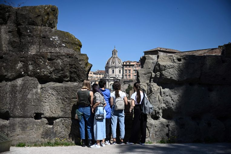 Toeristen in Rome. Beeld AFP