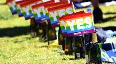 fotoreeks over Australiërs stemmen massaal voor homohuwelijk, en dat moet gevierd worden