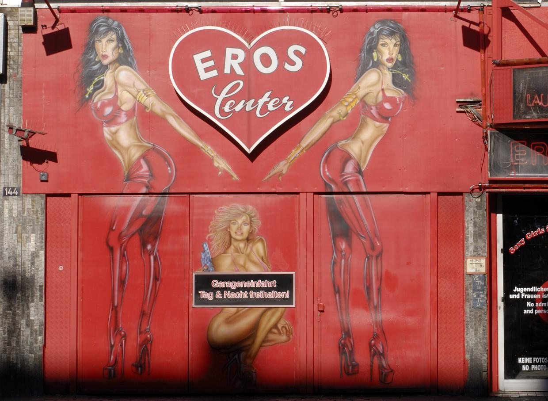 Een sekscinema in Frankfurt