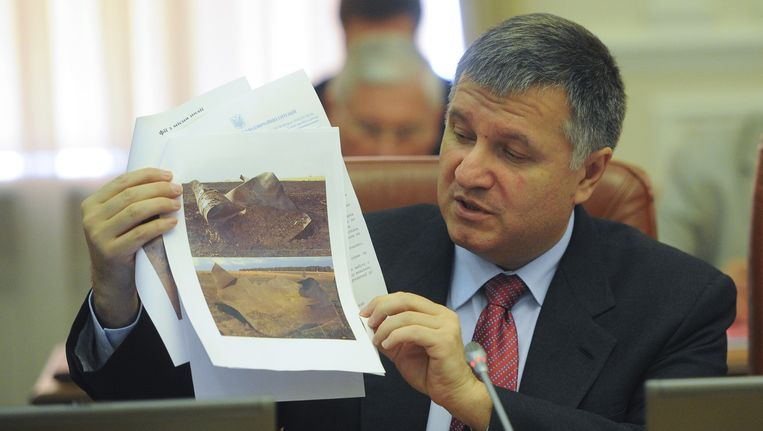 De Oekraïense minister van Binnenlandse Zaken, Arsen Avakov. Beeld AP