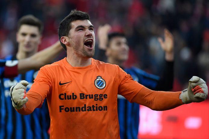 Mathew Ryan in het shirt van Club Brugge.