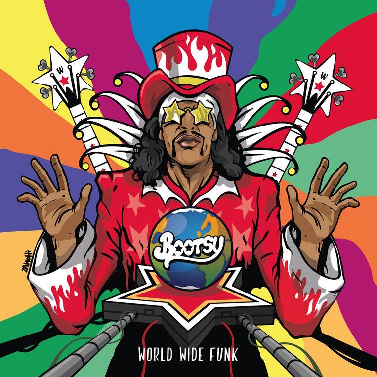De nieuwe plaat van Bootsy Collins: elastische, good old fashioned funk en cartooneske humor.  Beeld (c) Bootsy Collins