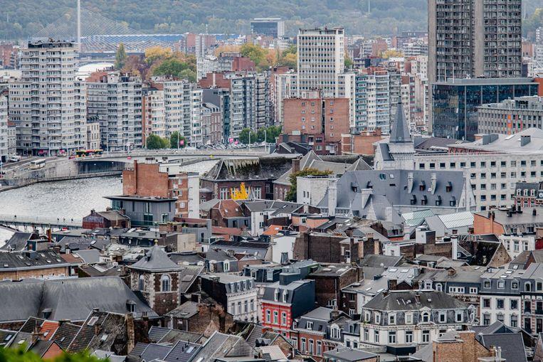 Overzicht van de binnenstad van Luik.  Beeld ANP