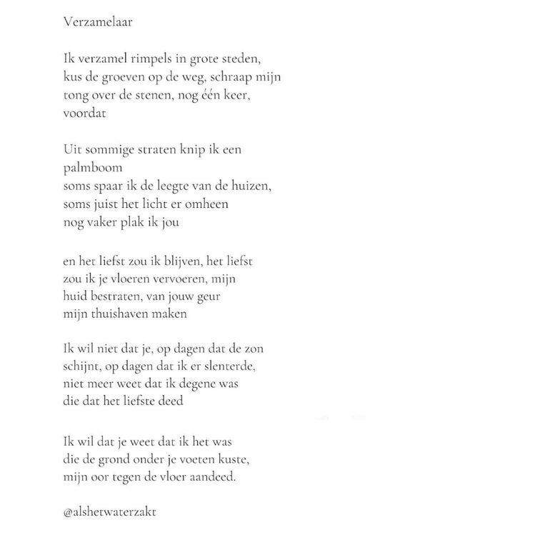 Kanshebber voor het beste gedicht door Kelly Verdonk. Beeld Amai-award