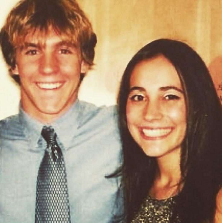 Mark en Giulia toen ze pas samen waren.