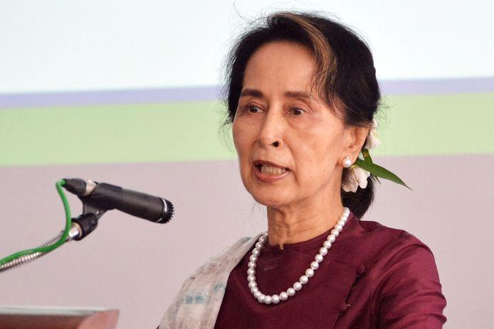 Aung San Suu Kyi in juli 2019.