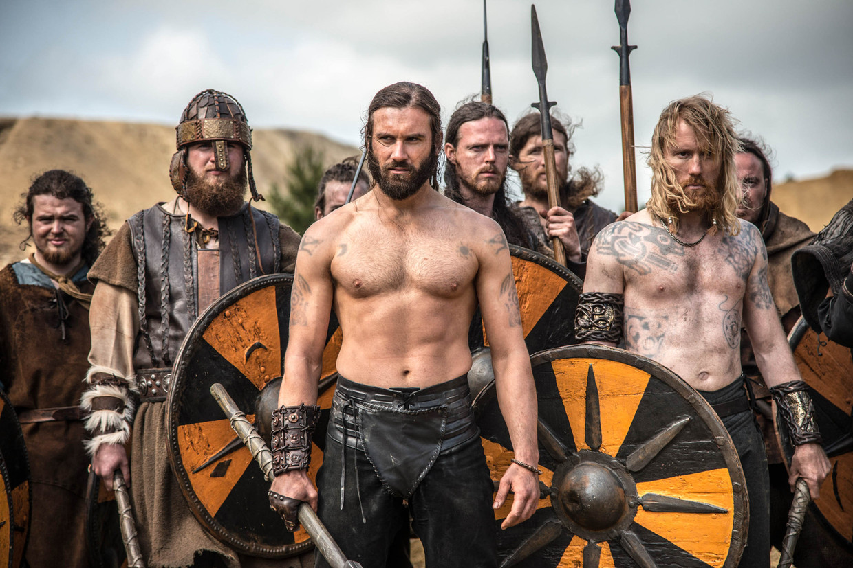 Een beeld uit de tv-serie 'Vikings'. Beeld MEDIALAAN