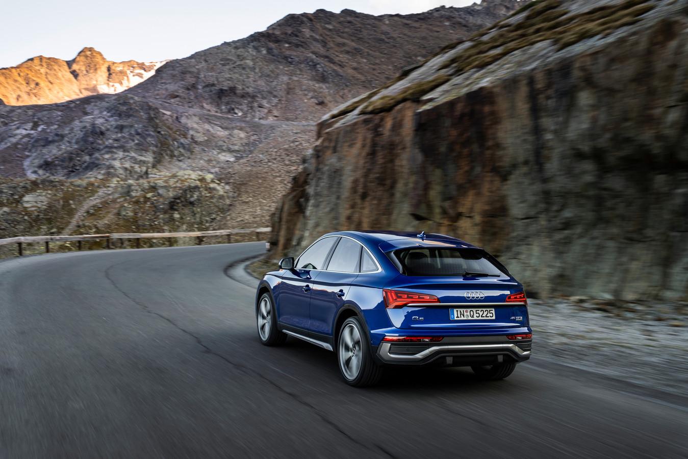 De nieuwe Audi Q5 Sportback heeft een rondere daklijn dan de standaard Q5