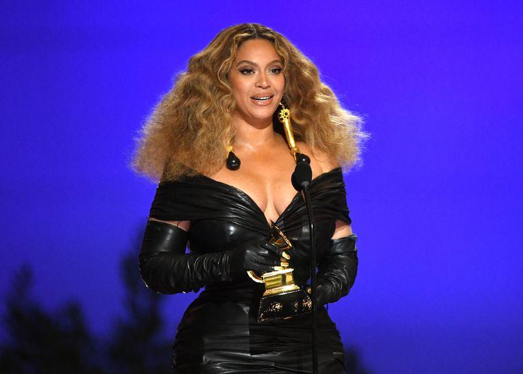 Beyoncé mocht vier Grammy's mee naar huis nemen, wat haar totaal op 28 brengt. Beeld Getty Images via AFP