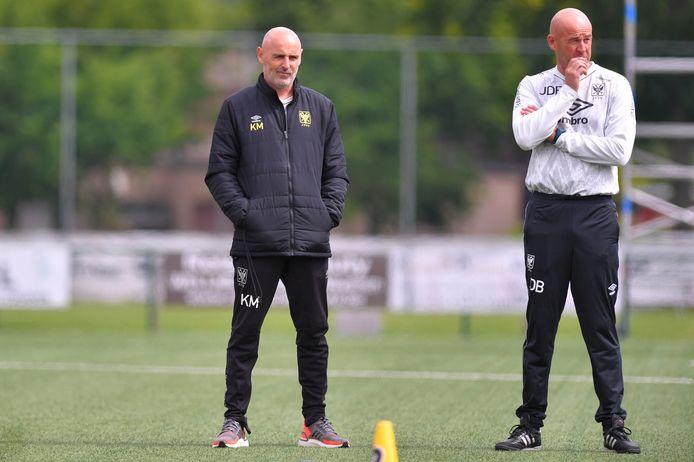 Coach Kevin Muscat en keeperstrainer Jurgen De Braekeleer