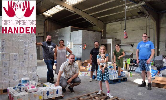 De ploeg van SOS Meetjesland helpt Wallonië.