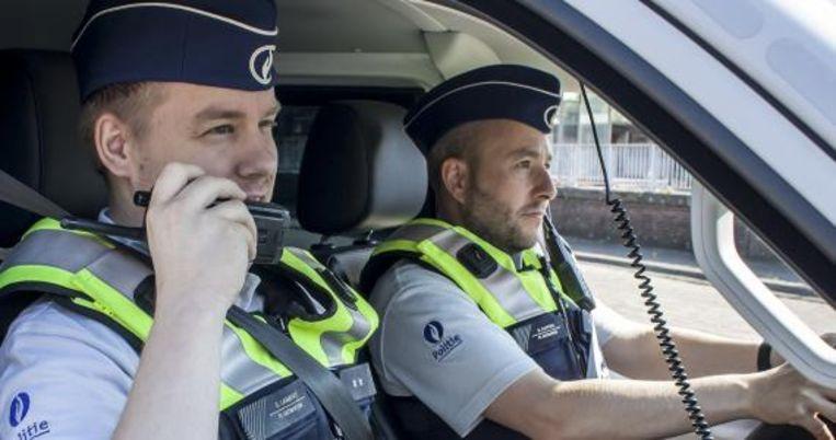 Een beeld uit de rekruteringscampagne van de Antwerpse politie.