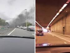 """Incendie dans un tunnel du R3 à Charleroi: """"Quand ça a explosé, nous avons eu peur"""""""