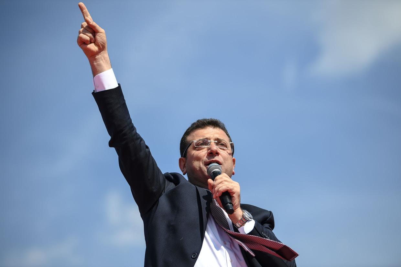 Ekrem Imamoglu, burgemeester van Istanbul.