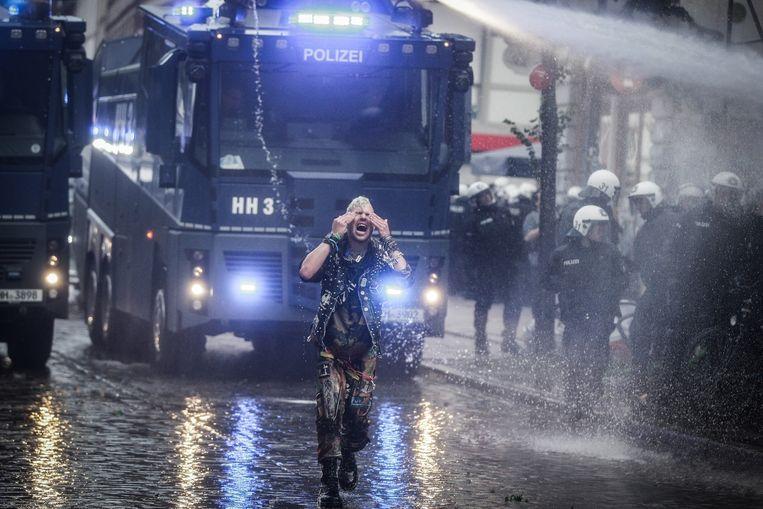 Protest in Duitsland. Beeld LSphotography / Demotix