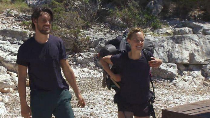 Jasper Demoulin e Anouk Mas prima dell'inizio del test.