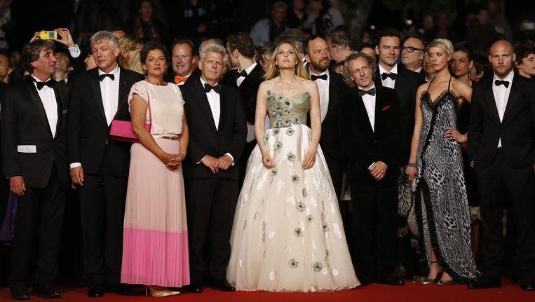 Crew en cast van Borgman eerder dit jaar in Cannes. Beeld AFP