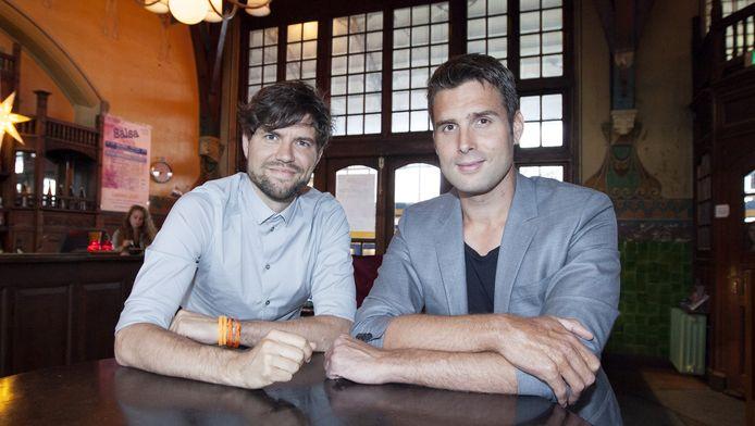 Nick (rechts) en Simon (links).