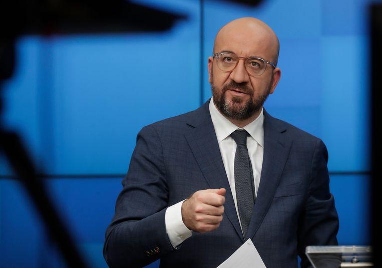 Voorzitter van de Europese Raad Charles Michel. Hij werd gevraagd om vaart te zetten achter de Europese productie van vaccins.  Beeld AP