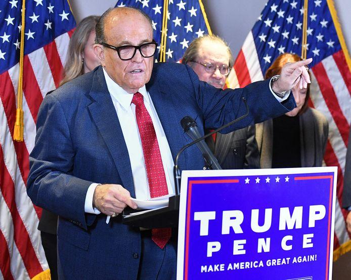 Rudy Giuliani, en conférence de presse à Washington, en novembre 2020