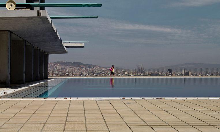 Piscines Bernat Picornell, Olympisch zwembad (Barcelona, Spanje) Beeld Henk Sloos